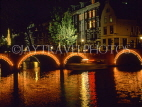 HOLLAND, Amsterdam, canal bridges illuminated,  HOL670JPL