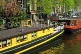 HOLLAND, Amsterdam, canal scene and houseboats, HOL691JPL