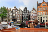 HOLLAND, Amsterdam, sightseeing by boat, typical Dutch architecture, HOL834JPL