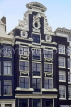 HOLLAND, Amsterdam, typical old gabled architecture, house, HOL748JPL