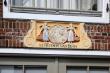 HOLLAND, Edam, Meyrmin Van Edam building, inscription on building facade, HOL853JPL