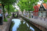 HOLLAND, Edam, old town and canal scene, HOL809JPL