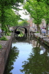 HOLLAND, Edam, old town and canal scene, HOL810JPL