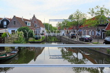 HOLLAND, Edam, old town and canal scene, HOL818JPL