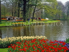 HOLLAND, Keukenhof Gardens and flowering Tulips, HOL702JPL