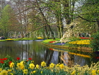 HOLLAND, Keukenhof Gardens and lake, HOL743JPL