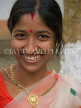 INDIA, Assam, Majuli Island, portrait of a smiling Indian woman, IND1450JPL
