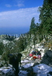 INDIA, Himachal Pradesh, Himalayas, Trekkers on trail to Triund, IND1231JPL