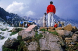 INDIA, Himachal Pradesh, Himalayas, camp site with guides and porters, IND1229JPL