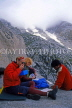 INDIA, Himachal Pradesh, Himalayas, two trekkers with guide, IND1236JPL