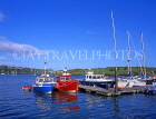 IRELAND, County Cork, KINSALE harbour and mored boats, IRE522JPL