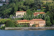 ITALY, Lombardy, LAKE COMO, lakeside scenery, villas and houses, ITL2320JPL