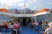 ITALY, Lombardy, LAKE COMO, people on cruise boat, ITL2293JPL