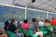 ITALY, Lombardy, LAKE COMO, people on cruise boat, ITL2296JPL