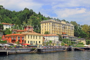 ITALY, Lombardy, Lake Como, TREMEZZO, lake front view and Grand Hotel, ITL2292JPL