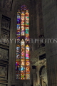 ITALY, Lombardy, MILAN, The Duomo (Cathedral), stained galss windows, ITL1992JPL