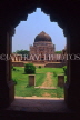 India, DELHI, Red Fort, and interior arch, IND1209JPL