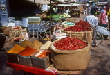 India, DELHI, market stall, spices and dried chillies, IND1260JPL