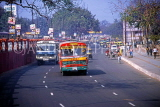 India, DELHI, street scene, traffic and buses, IND789JPL