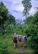 Indonesia, SUMATRA, tourists on rain forest hike, IND127JPL