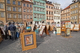 POLAND, Warsaw, Rynek Starego Miasta (Old Town Square) artworks for sale, POL224JPL