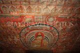 SRI LANKA, Dambulla Cave Temple (Golden Temple), paintings and frescoes in cave ceiling, SLK2789JPL