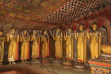 SRI LANKA, Dambulla Cave Temple (Golden Temple), row of standing Buddha statues in cave, SLK2780JPL