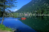 SWITZERLAND, Valais, CHAMPEX, Lake Champex and pedal boat, SW1438JPL