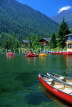 SWITZERLAND, Valais, CHAMPEX, Lake Champex and pleasure boats, SW1451JPL