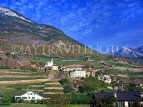 SWITZERLAND, Valais, SAILLON, old town, mountains and vineyards, SW1575JPL