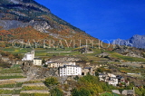 SWITZERLAND, Valais, SAILLON, old town and vineyards, SW1576JPL