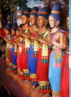 THAILAND, Bangkok, crafts, hand carved wooden figures (one metre tell), THA1010JPL