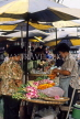 THAILAND, Bangkok, street markets, stall selling flower garlands (for temple offerings), THA112JPL