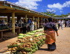 TONGA, Nukualofa, Main Market with gourds and yams for sale, TON2423JPL