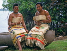 TONGA, Tongans in traditional 'bride and groom' costume, TON113JPL