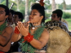 TONGA, cultural dancer performing during traditional Kava ceremony, TON128JPL