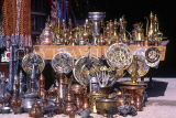 TURKEY, Ankara,  shop display, copperware, silver and pottery, TUR700JPL