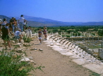 TURKEY, Aphrodisias, The Ancient Theatre and tourists, TUR240JPL