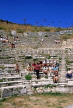 TURKEY, Ephesus, ruins of the Great Theatre and tourists, TUR704JPL