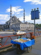 TURKEY, Istanbul, Yeni Mosque (New Mosque 16-17 cent AD), and snacks vendor