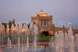 UAE, ABU DHABI, Emirates Palace Hotel, and fountains, UAE598JPL
