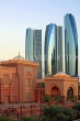 UAE, ABU DHABI, Emirates Palace Hotel and Etihad Towers, UAE594JPL