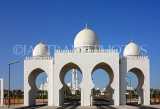 UAE, ABU DHABI, Sheik Zayed Mosque, entrance, UAE661JPL