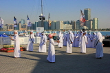 UAE, ABU DHABI, The Corniche, men performing a traditional cultural show, UAE686JPL
