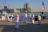 UAE, ABU DHABI, The Corniche, men performing a traditional cultural show, UAE687JPL