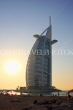 UAE, DUBAI, Burj al Arab Hotel, dusk sunset view, UAE311JPL