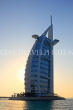 UAE, DUBAI, Burj al Arab Hotel, dusk sunset view, UAE312JPL