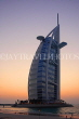 UAE, DUBAI, Burj al Arab Hotel, dusk sunset view, UAE313JPL
