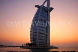 UAE, DUBAI, Burj al Arab Hotel, dusk sunset view, UAE321JPL