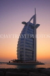 UAE, DUBAI, Burj al Arab Hotel, dusk sunset view, UAE322JPL